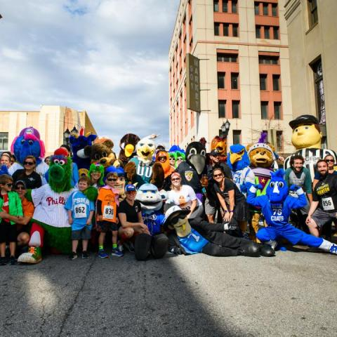 Mascots for a Cure 5k Takes on Market